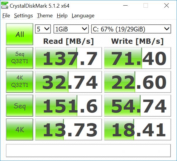 нео-z83-4-CrystalDiskMark-EMMC-вспышки