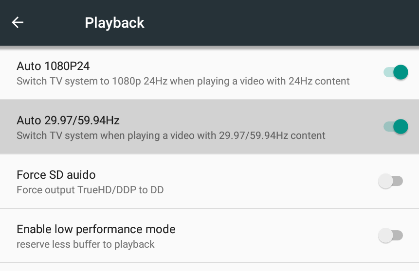 zidoo-playback-options
