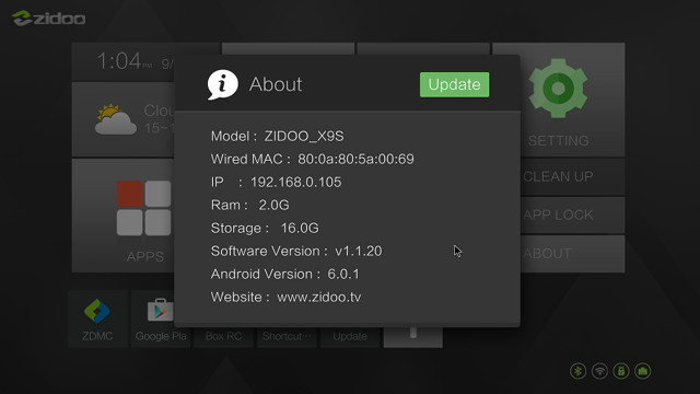 zidoo-x9s-firmware-version
