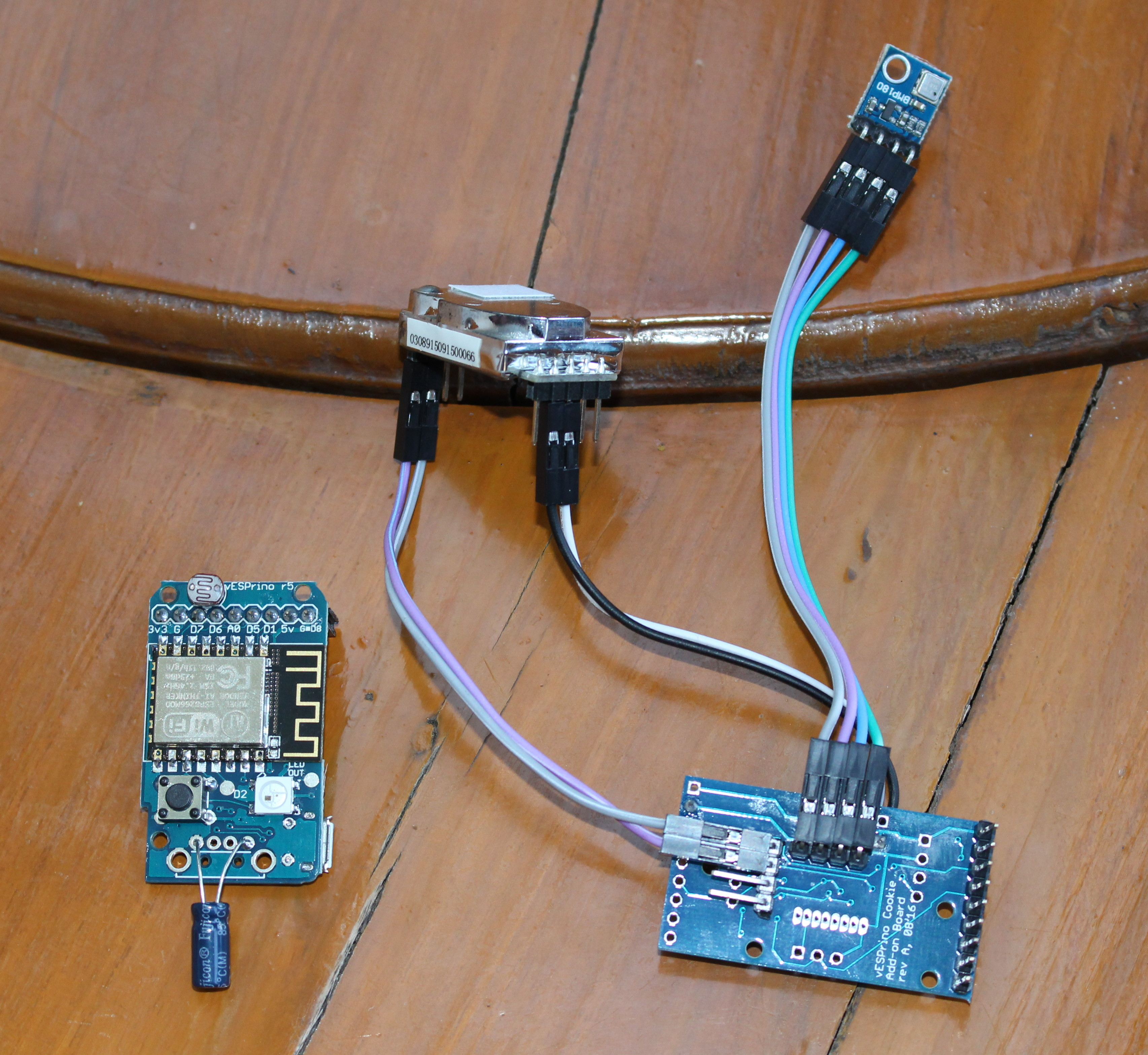 ESP8266 based Wireless Air Quality & Environmental Monitors