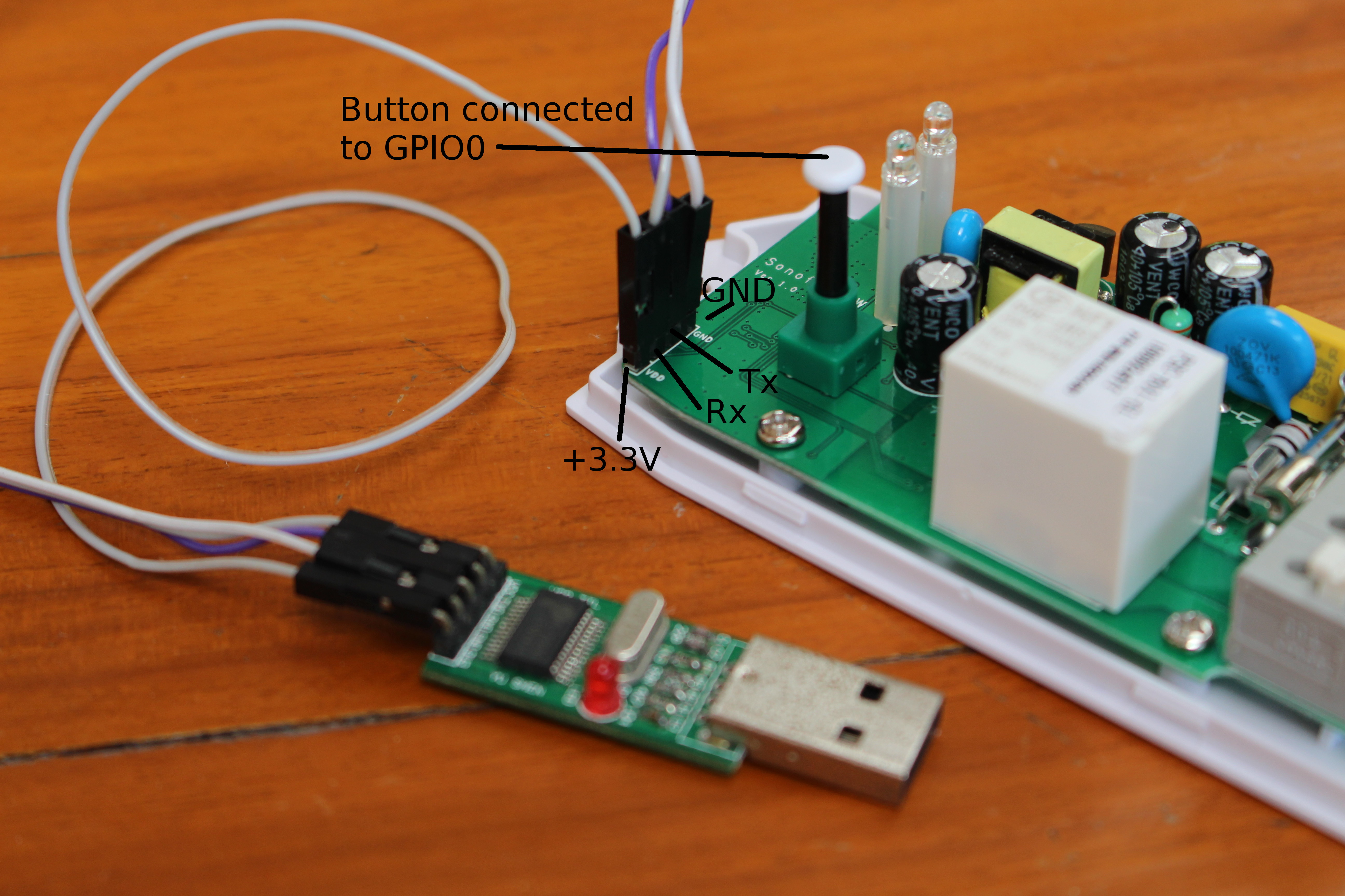 Building And Flashing Espurna Open Source Firmware To Sonoff Pow Wireless Switch on 4 pin relay