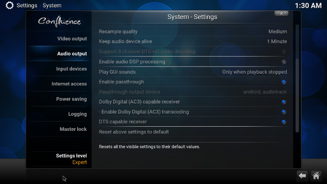 yokatv-kb2-kodi-audio-pass-through-settings