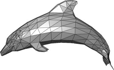 Sample representation of 3D mesh data