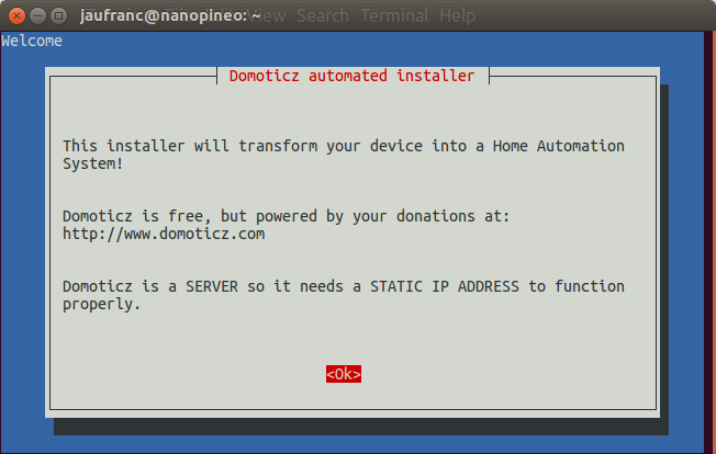 How to Install Domoticz Home Automation System in NanoPi NEO