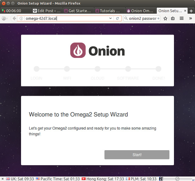 Getting Started with Onion Omega2+ LEDE WiFi IoT Board and Expansion