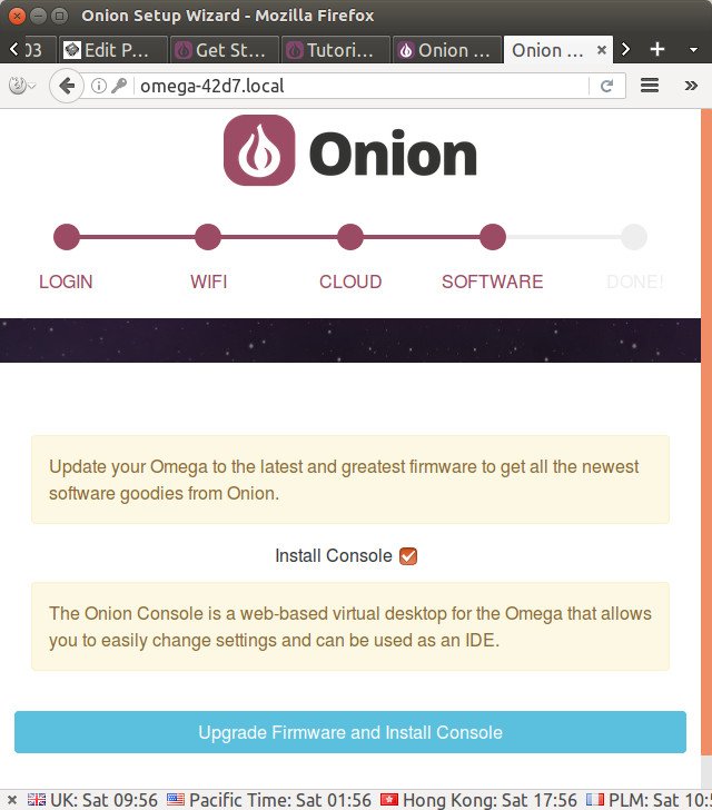 Onion-Omega2+-Firmware-Update-Console