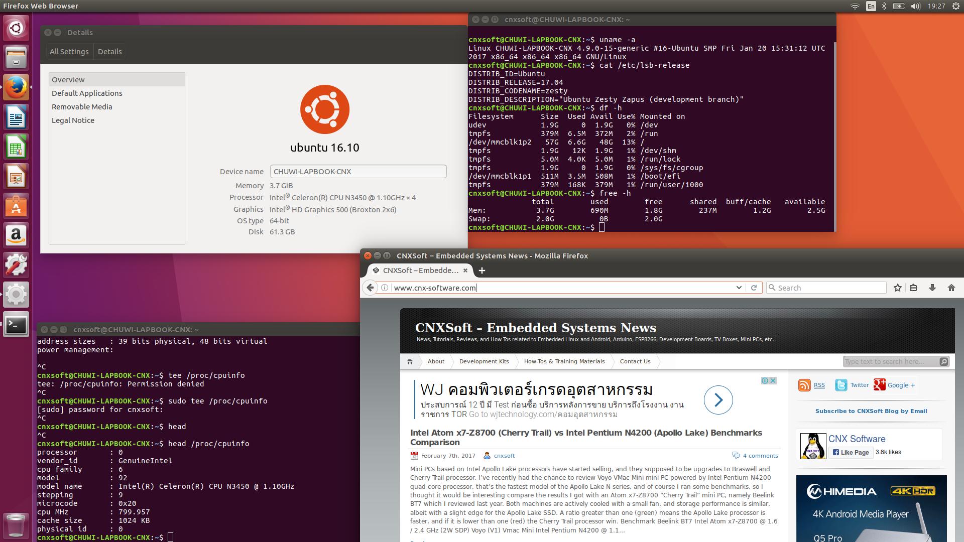 Installing Ubuntu 17 04 on CHUWI LapBook 14 1 Apollo Lake Laptop