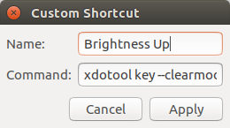 How to Assign Brightness Keys in Ubuntu 16 04 and Greater