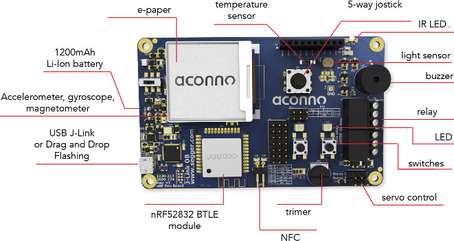 paper module aconno bluetooth 40 5 iot development board features an