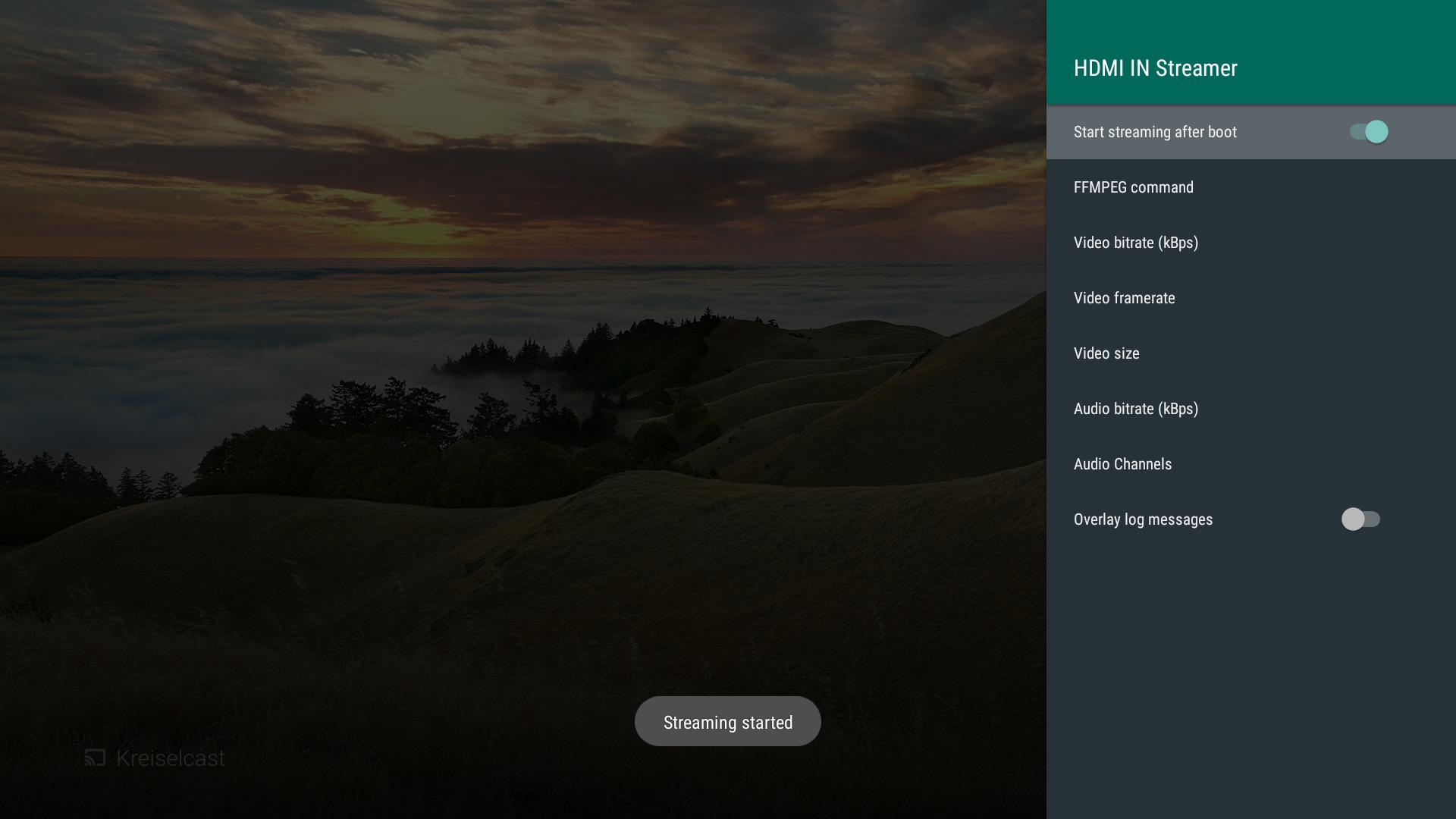 Instreamer App Streams Zidoo X8/X9S/X10 HDMI Video Input to YouTube