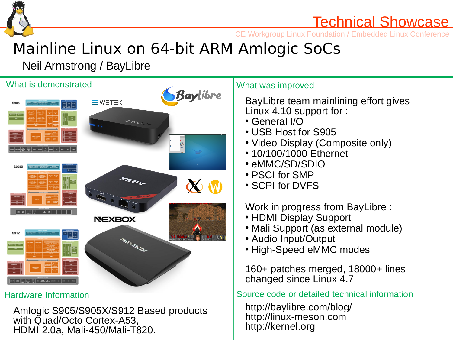 mainline linux on 64 bit arm amlogic socs and tv boxes such as rh cnx software com