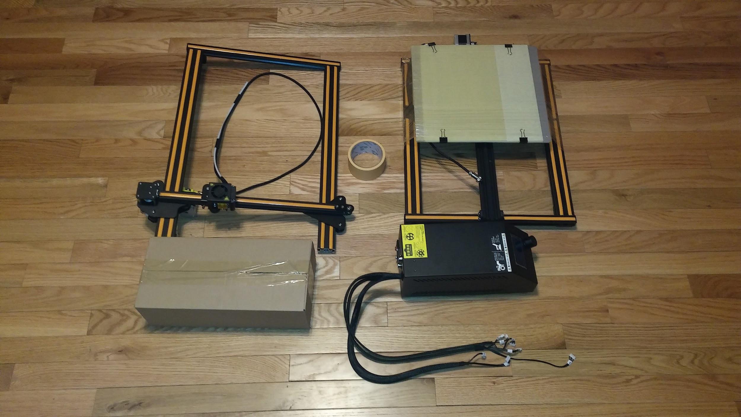 Creality CR-10 3D Printer Review - Part 1: Unboxing, Setup