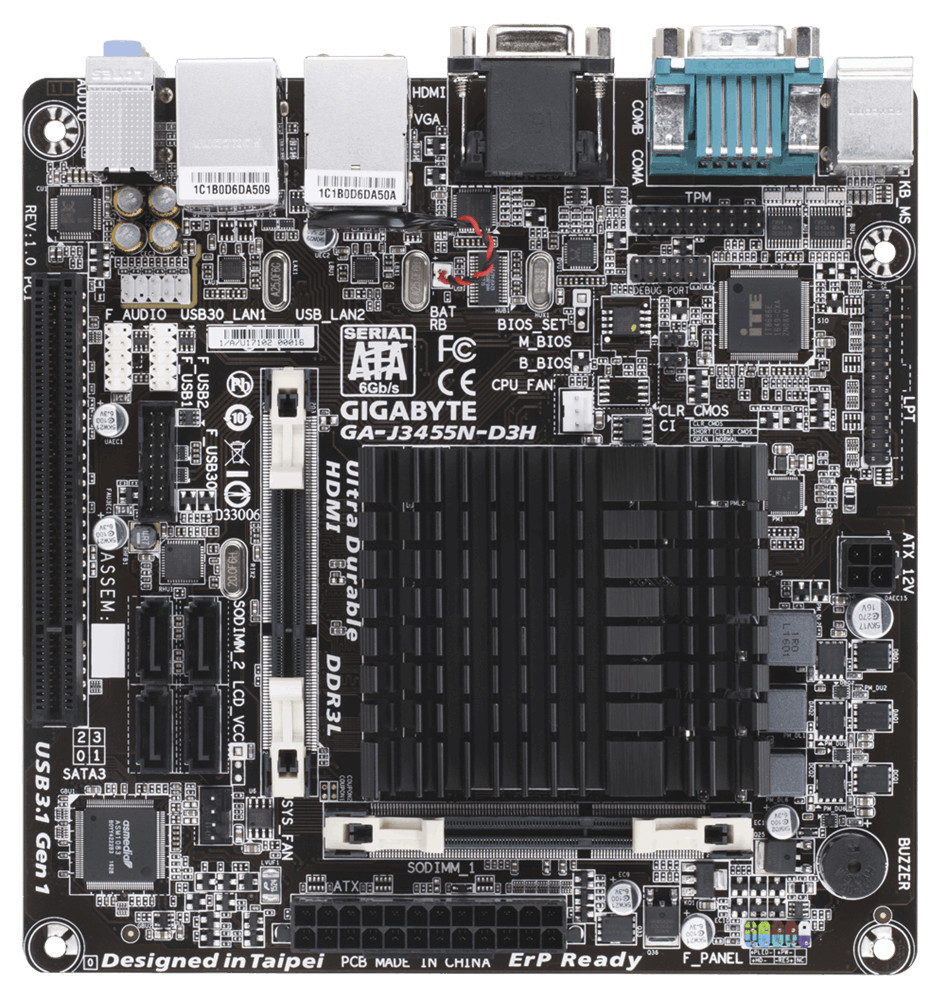 GIGABYTE GA-J3455N-D3H Apollo Lake Mini-ITX Motherboard