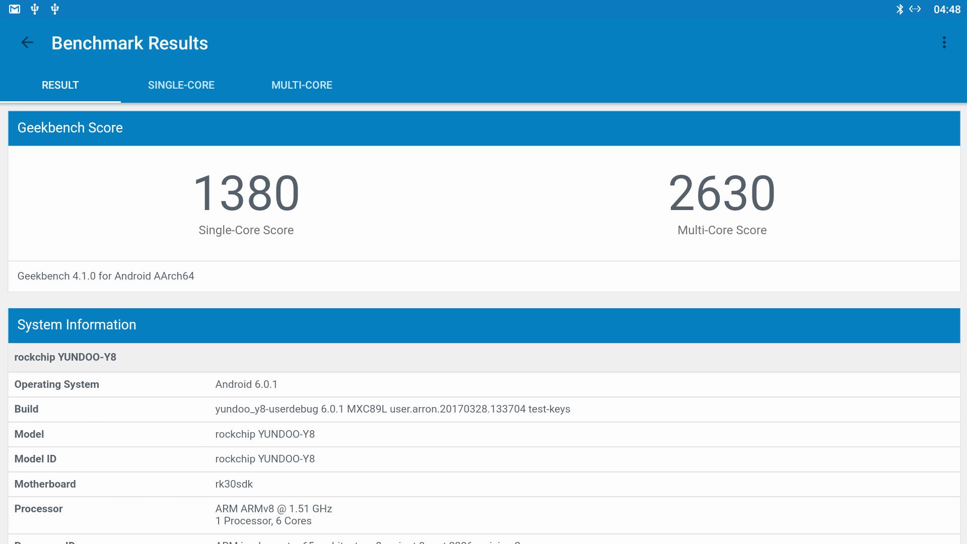 Yundoo Y8 Rockchip Rk3399 Tv Box System Info And Benchmarks