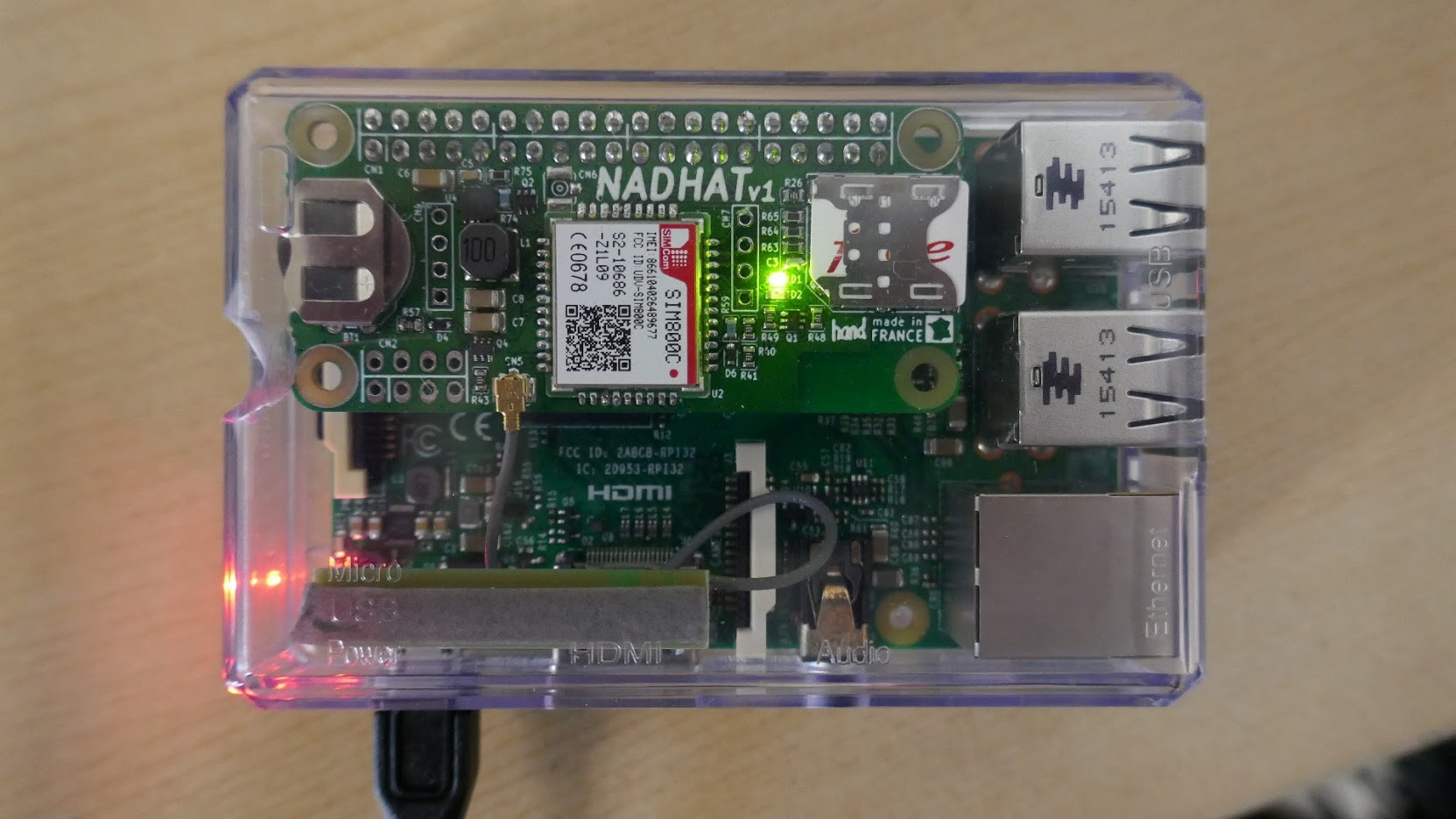 Nadhat is an Add-on Board for Raspberry Pi Boards with 2G GSM/GPRS