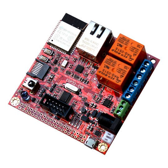 Olimex ESP32-EVB Board with Ethernet, CAN Bus, and Relays up for