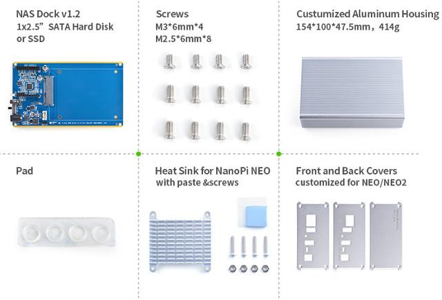 NAS Kit v1 2 Gets Support for NanoPi NEO 2, an UAS Capable