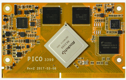Boardcon Introduces Rockchip RK3399 PICO3399 CPU Module and EM3399
