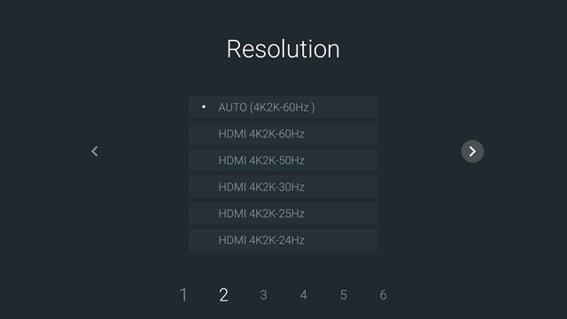 how to change video resolution on android box