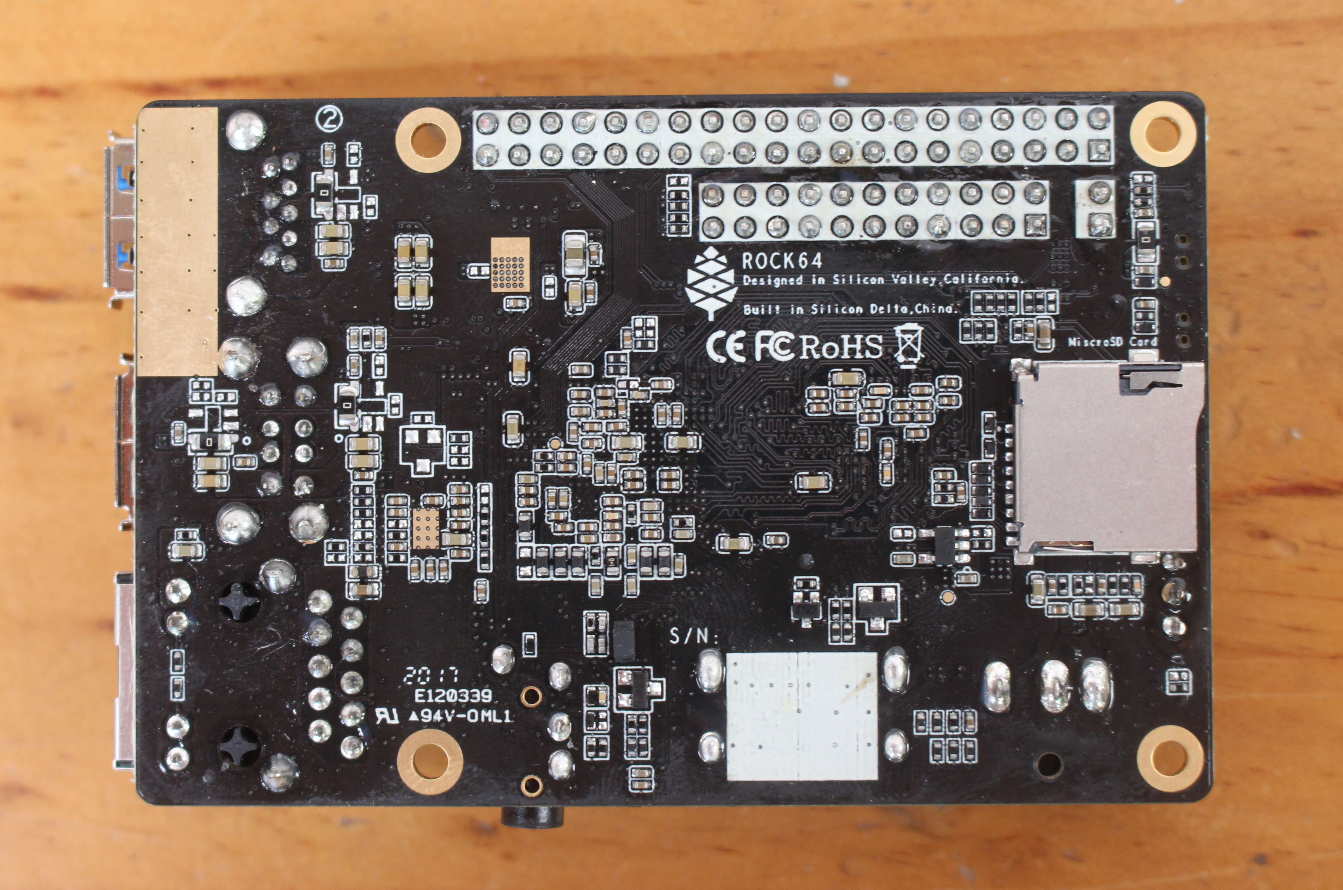 ROCK64 is a Rockchip RK3328 Development Board with Up to 4GB