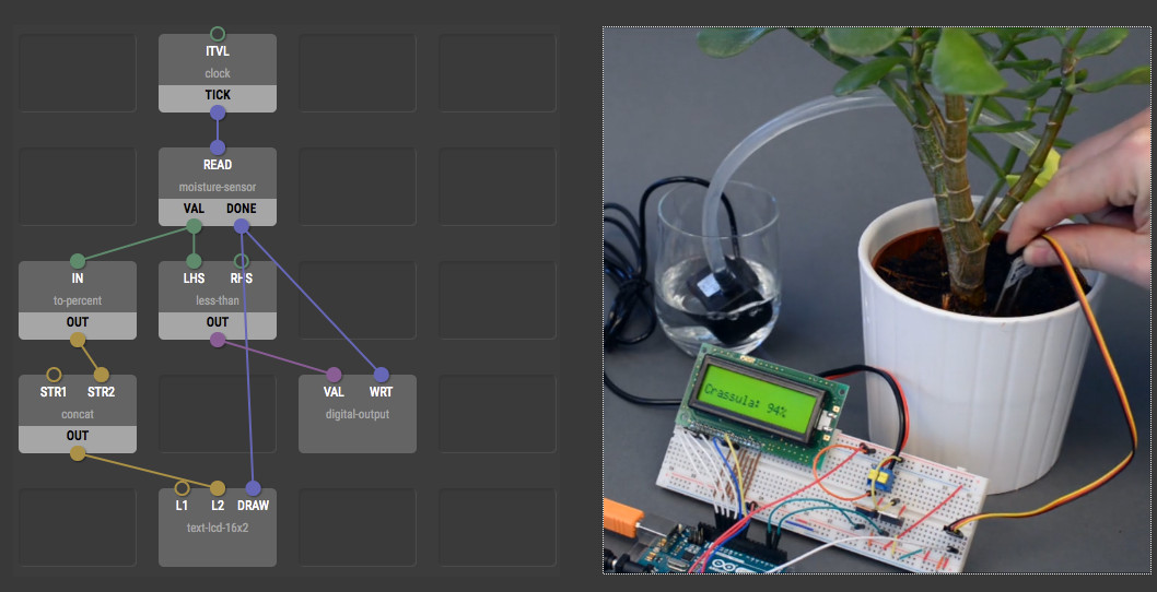 XOD is a Visual Programming Language for Arduino, Raspberry