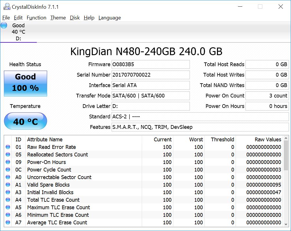 Testing KingDian N480 240 GB M 2 SSD in MeLE PCG03 Apo Mini PC