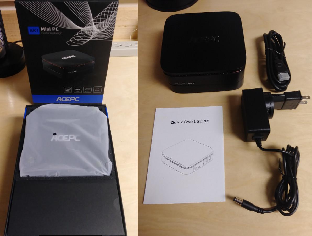 ACEPC AK1 Celeron J3455 Mini PC Review - Part 1: Unboxing