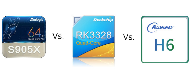 Amlogic S905X vs Rockchip RK3328 vs Allwinner H6 Processors