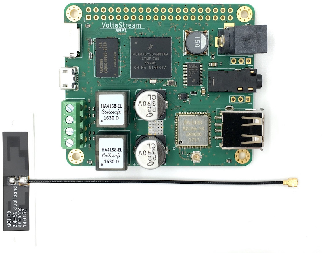 Voltastream Amp1 Linux Audio Board Includes A Stereo Amplifier Bluetooth Circuit Buy Click To Enlarge