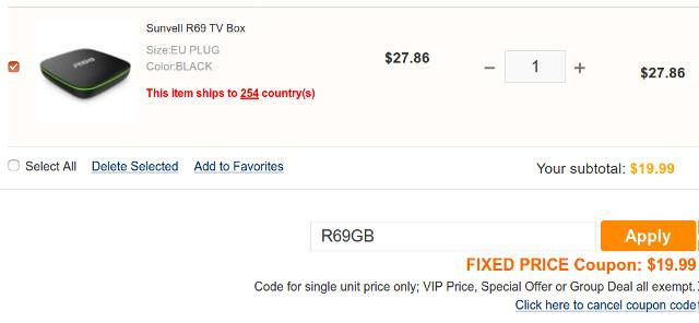 Sunvell R69 Allwinner H2 TV Box Sells for $19 99 (Promo)