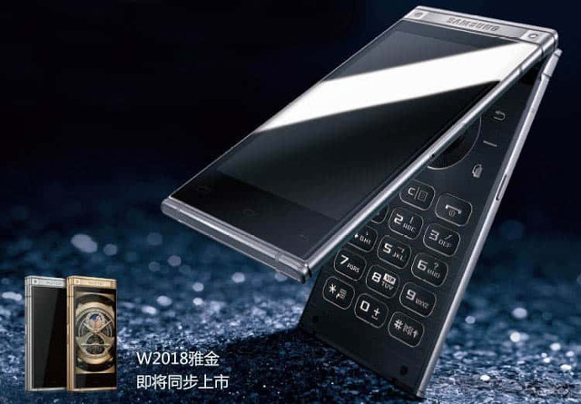 Samsung W2018 Is A Premium Android Flip Phone With Dual Display For