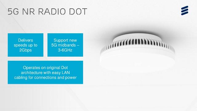 Ericsson Unveils 5G Radio Dot for Better 5G Indoor Coverage