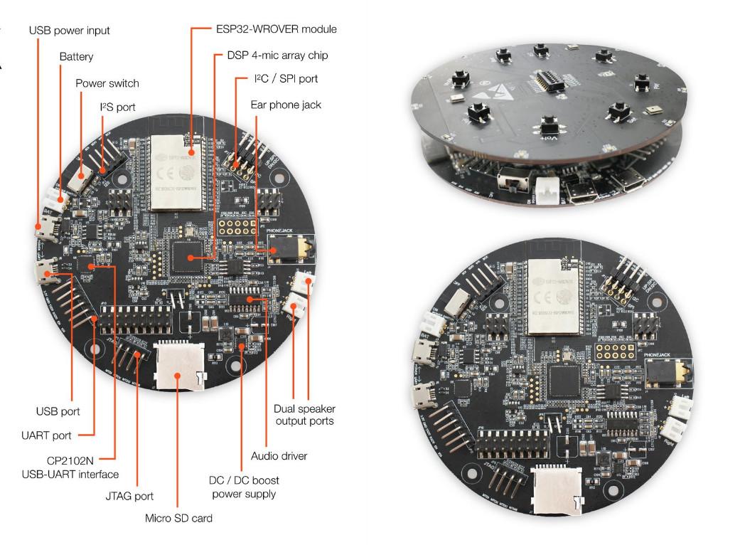 Espressif ESP32 LyraTD MSC HDK is Designed for Smart Speakers