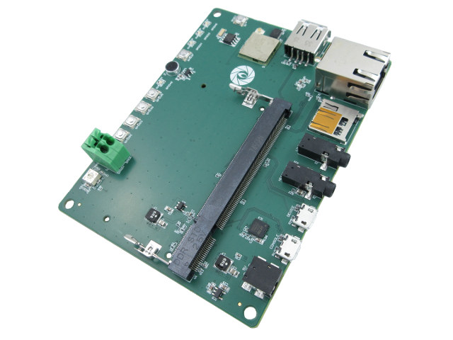 Gumstix Chatterbox is a Customizable, AVS-Ready Development Platform based on Toradex Colibri i.MX7 SoM
