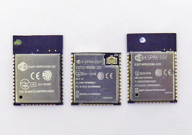 ESP32-WROOM-32D / ESP32-WROOM-32U WiFi & Bluetooth Modules Deliver