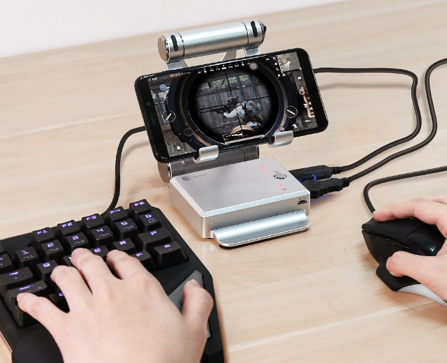 Gaming-Dock-USB-Keyboard-Mouse-Smartphone