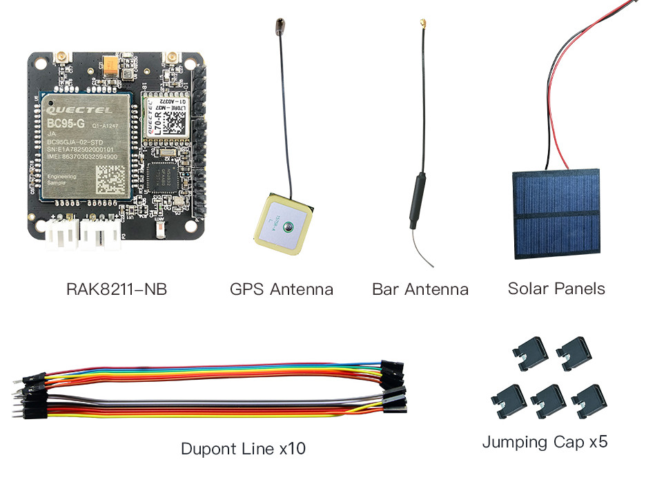 RAK8211-NB iTracker Battery / Solar Powered Module Comes with NB-IoT