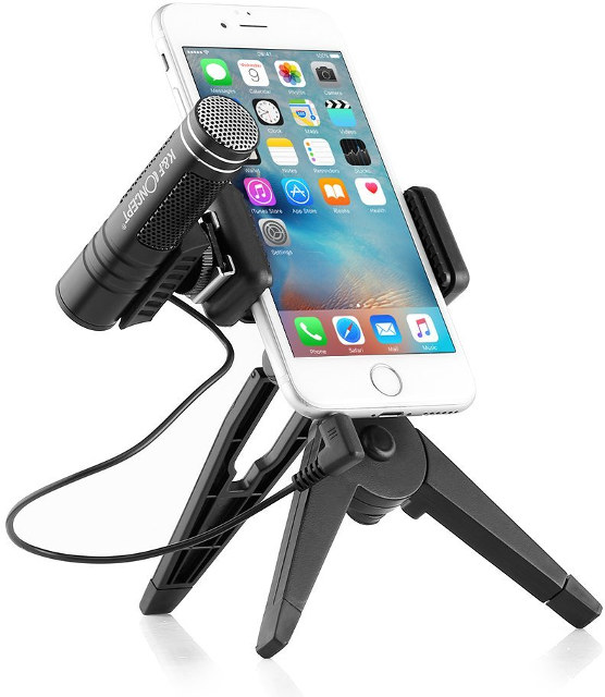 Smartphone-Stand-with-Microphone