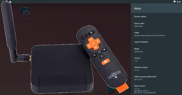 Ugoos Releases Android 7 1 2 Nougat (Beta) for Rockchip RK3288 TV Boxes