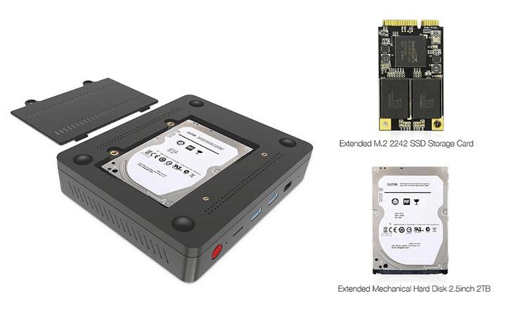 Gemini Lake mini PC with hard drive & SSD