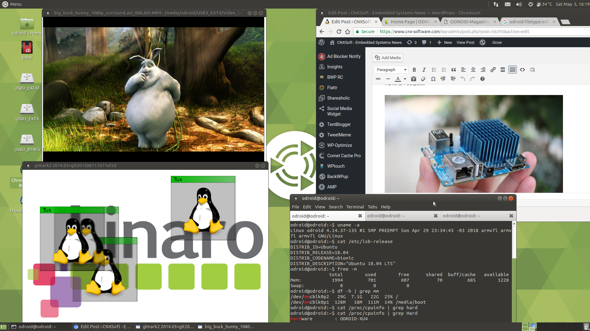 Review Of Ubuntu 1804 On Odroid Xu4q Development Board Wiringpi Php Sudo Click To Enlarge