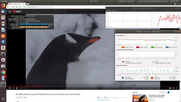 우분투 - 크롬 - 브라우저 - 1080p- 비디오