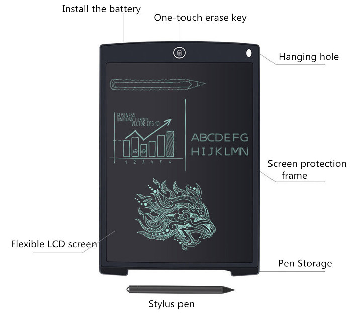 Digital LCD Writing Pad