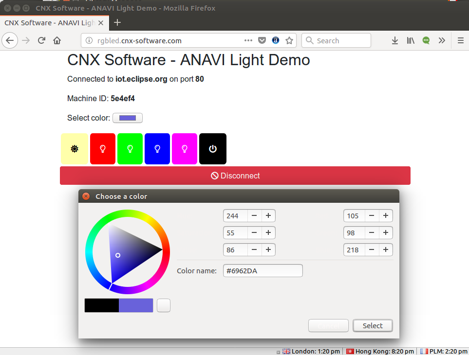 ANAVI-Light-Demo-Color-Picker