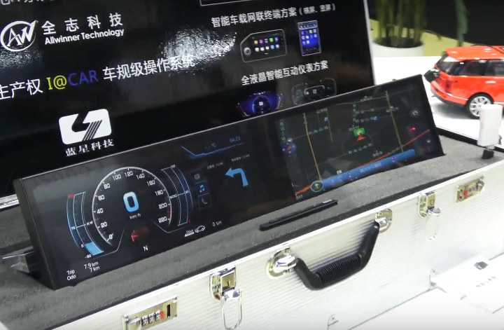 Allwinner T2 Car Dashboard Dual Display