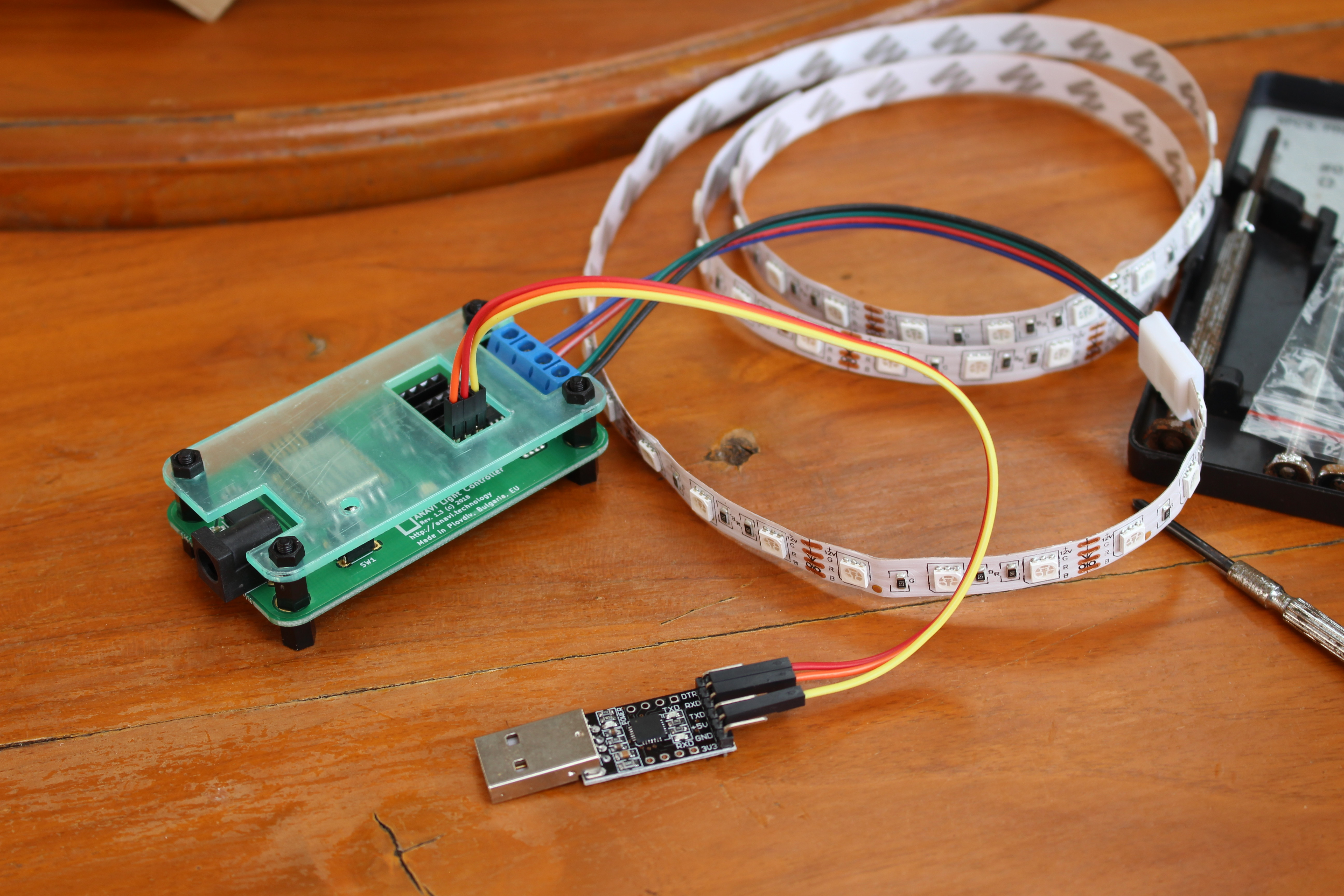 ESP8266 RGB LED Strip Control with ANAVI Light Controller, Arduino