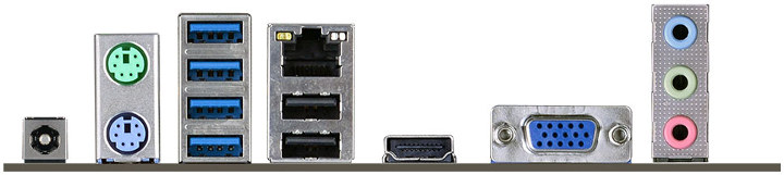 ECS GLKD-I Motherboard Ports