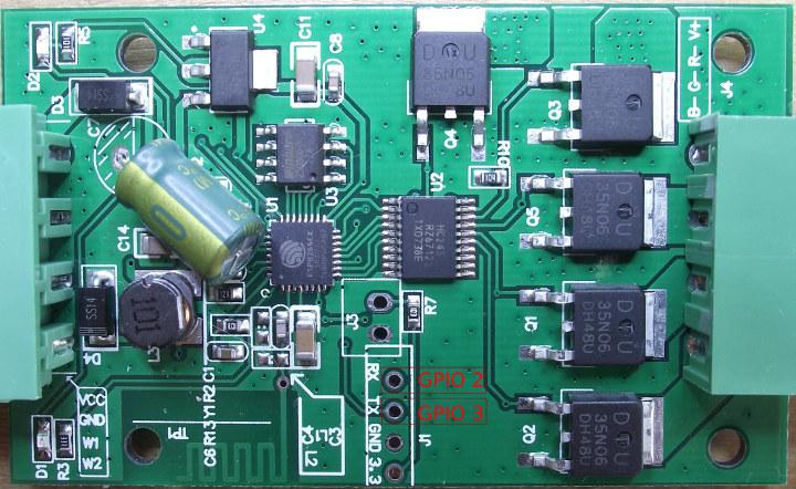 H801 Board serial pins