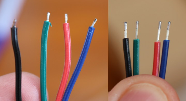 RGB-LED-Cable-Stripping