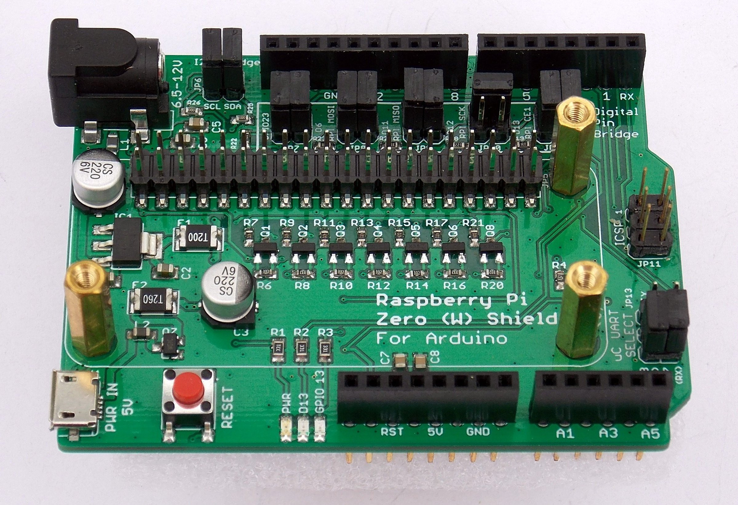 Raspberry pi zero w shield for arduino is an uno